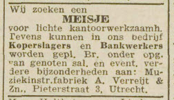 advertentie Verreijt 1944